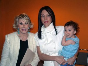 """""""Joan Rivers worked with me in Toronto at the New You Show - she met my daughter and said 'My she has big eyes', I replied 'I had them augmented to look like me'. She pointed her finger at me and said 'Good one'. I thoroughly enjoyed and respected this wonderful lady."""""""