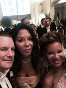 """""""With my husband, Stephen Mulholland and Traci Melchor - such a kind and real person."""""""