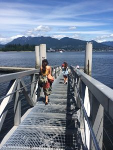 """""""This is down at the Vancouver Harbour - I take it the docks were not made for Ball Gowns."""""""