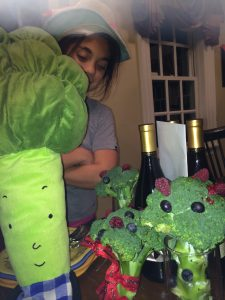 Best gift ever...Broccoli cushion from my wonderful friend Karen....decorated Broccoli from my kids.
