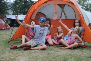 """With the cousins in the interior of BC - great """"glamping"""" trip."""