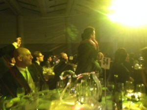 Barrett Kaplan hugging mother Ann Kaplan when called to stage at the EY Entrepreneur of the Year awards