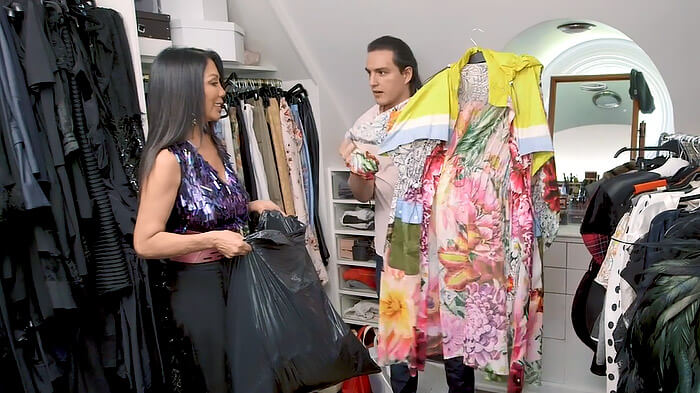 We helped 'Real Housewives' star Ann Kaplan clean out her incredible closet